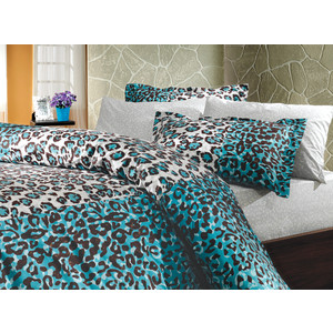 цена Комплект постельного белья Hobby home collection 2-х сп, поплин, Adriana, синий (1501000613) онлайн в 2017 году