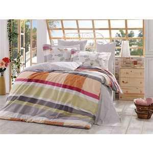 цена Комплект постельного белья Hobby home collection Евро, поплин, Alanza, серый (1501000920) онлайн в 2017 году