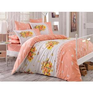 цена Комплект постельного белья Hobby home collection Евро, поплин, Alvis , персиковый (1501000922) онлайн в 2017 году