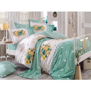 Комплект постельного белья Hobby home collection Евро, поплин, Alvis , зеленый (1501000921) комплект постельного белья hobby home collection 1 5 сп поплин alvis персиковый 1501000876
