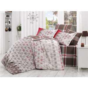 цена Комплект постельного белья Hobby home collection 1,5 сп, поплин, Belen, коричневый (1501000877) онлайн в 2017 году