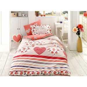 Комплект постельного белья Hobby home collection Семейный, поплин, Bella, красный (1501000974)
