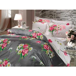цена Комплект постельного белья Hobby home collection 2-х сп, поплин, Calvina, серый (1501000633) онлайн в 2017 году