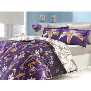 цена Комплект постельного белья Hobby home collection Евро, поплин, Clarinda, фиолетовый (1501000085) онлайн в 2017 году