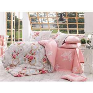 Комплект постельного белья Hobby home collection 1,5 сп, поплин, Clementina, розовый (1501000882) комплект семейный hobby home collection clementina