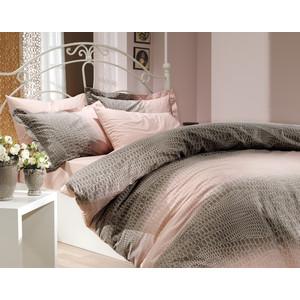 купить Комплект постельного белья Hobby home collection 1,5 сп, поплин, Estela, пудра (1501000100) дешево