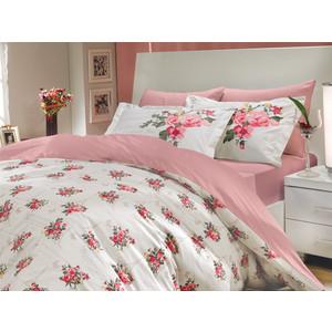Комплект постельного белья Hobby home collection 1,5 сп, поплин, Paris Spring, розовый (1501000144) hobby home collection кпб семейный поплин paris spring розовое