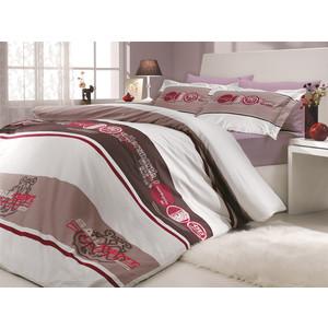 купить Комплект постельного белья Hobby home collection Семейный, поплин, Rota, бордовый (1501000153) по цене 7389.5 рублей