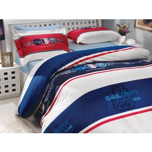 Комплект постельного белья Hobby home collection Семейный, поплин, Rota, темно-синий (1501000155)