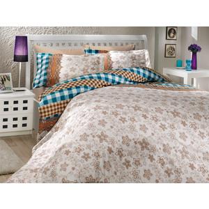 цена Комплект постельного белья Hobby home collection Семейный, поплин, Serena, синий (1501000167) онлайн в 2017 году