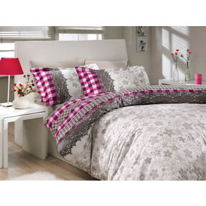 цена Комплект постельного белья Hobby home collection Евро, поплин, Serena, фиолетовый (1501000169) онлайн в 2017 году