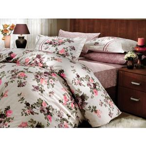 Комплект постельного белья Hobby home collection Семейный, поплин, Susana, коричневый (1501000173)