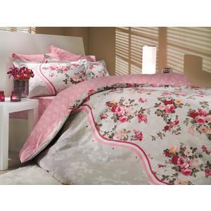 цена Комплект постельного белья Hobby home collection 1,5 сп, поплин, Susana, розовый (1501000177) онлайн в 2017 году
