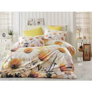 цена Комплект постельного белья Hobby home collection Евро, поплин, 3D Daisy, (1501000931) онлайн в 2017 году