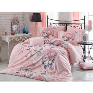 Комплект постельного белья Hobby home collection Евро, поплин, 3D Serefina, персиковый (1501000937)