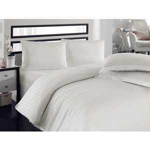 Комплект постельного белья Hobby home collection Евро, бамбук, Diamond Stripe, кремовый (1501000805) комплект постельного белья hobby home collection евро бамбук diamond spot бело голубой 1607000034