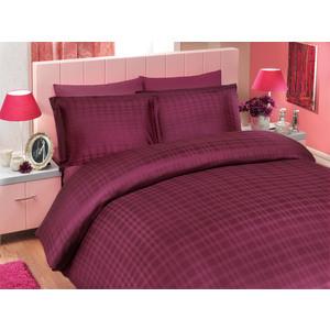 цена Покрывало Hobby home collection 2-х сп, бамбук, Diamond plaid, темно-фиолетовый (1501000361) онлайн в 2017 году