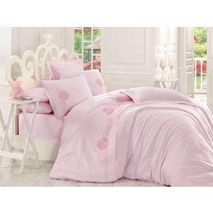 Комплект постельного белья Hobby home collection Евро, сатин, Antonia, пудра (1607000003)