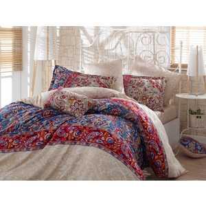 цена Комплект постельного белья Hobby home collection 1,5 сп, сатин, Caterina, красный (1607000140) онлайн в 2017 году