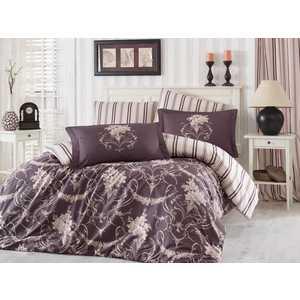 цена Комплект постельного белья Hobby home collection 1,5 сп, сатин, Ornella, бежевый (1607000148) онлайн в 2017 году
