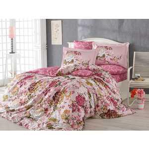 Комплект постельного белья Hobby home collection Евро, сатин, Rosanna, розовый (000125SN00502)