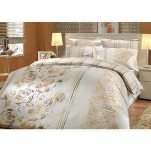 Комплект постельного белья Hobby home collection Семейный, сатин, Arabella, коричневый (1501000297)