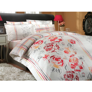 Комплект постельного белья Hobby home collection Семейный, сатин, Arabella, красный (1501000298) комплект постельного белья hobby home collection семейный сатин estate фуксия 1501000306