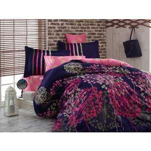 цена Комплект постельного белья Hobby home collection Евро, сатин, Fiorella, рояль (1607000051) онлайн в 2017 году