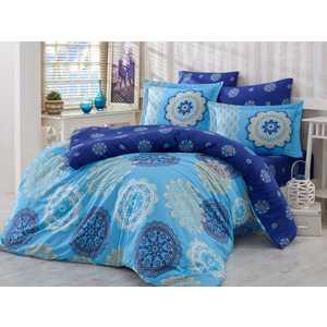 цена Комплект постельного белья Hobby home collection 1,5 сп, сатин, Ottoman, голубой (1607000150) онлайн в 2017 году