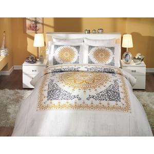 Комплект постельного белья Hobby home collection Семейный, сатин, Saphire, золотой (1501000324) комплект семейный hobby home collection almeda