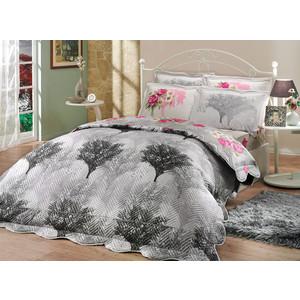 цена на Набор для спальни Hobby home collection Juillet-Calvina покрывало + КПБ 2-х сп. поплин серый/серый (1501000127)