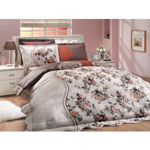 Набор для спальни Hobby home collection Susana-Royal покрывало + КПБ 2-х сп. поплин коричневый/кремовый (1501000181)