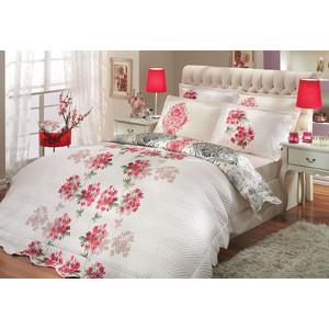 цена на Набор для спальни Hobby home collection Viyella-Royal покрывало + КПБ 2-х сп. поплин красный/кремовый (1501000198)