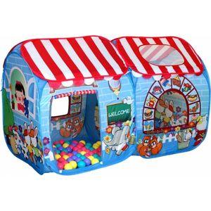 Игровая палатка Ching-Ching Сладкий остров макси, 180х95x80 см + 100шаров (CBH-15) цены онлайн