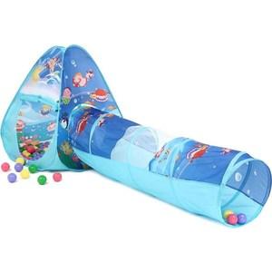 Домик Bony с тоннелем с шариками Треугольник Океан LI503 85х85х100 D-48х180 100 шаров игровой домик calida автомобиль 130х55х80 см и 100 шаров li 653