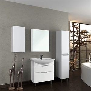 Мебель для ванной Dreja Laguna Plus 85 белый лак зеркало dreja uni 85