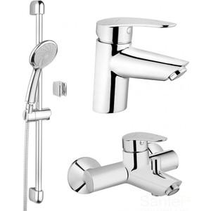 Комплект смесителей Vitra Dynamic для раковины, ванны, душевой гарнитур (A49152EXP)