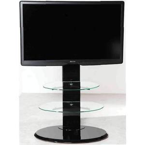 Тумба под телевизор Allegri Эклипс каркас черный стекло прозрачное