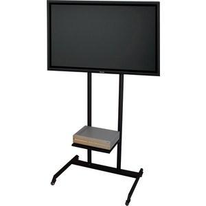 Стойка под телевизор Allegri Техно 1 50 на колесах с полкой черная телевизор 50 дюймов цена