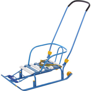 Санки Ника Тимка 5 классик (колеса, плоск. полозья,подножка, 2 положения ручки) Голубой Т5КЛ ника санки коляска ника тимка премиум малиновый