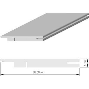 Доборная планка DEMFA телескопический эмаль 2070х130х12 мм Белый
