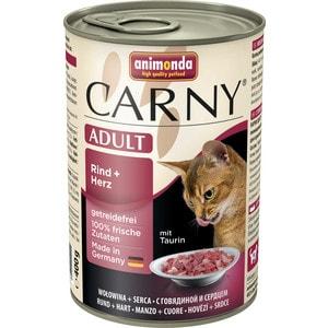 Консервы Animonda CARNY Adult с говядиной и сердцем для кошек 400г (83720) фото