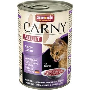 Консервы Animonda CARNY Adult с говядиной и ягненком для кошек 400г (83721)