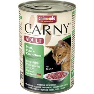 Консервы Animonda CARNY Adult с говядиной, индейкой и кроликом для кошек 400г (83725)
