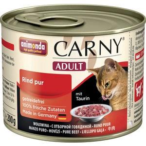 Консервы Animonda CARNY Adult с отборной говядиной для кошек 200г (83707)