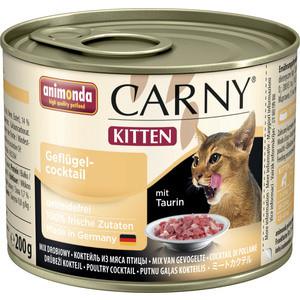 Консервы Animonda CARNY Kitten коктейль из говядины и мяса домашней птицы для котят 200г (83698) консервы animonda carny kitten с говядиной и сердцем индейки для котят 200г 83696