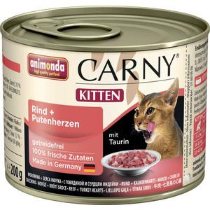 Консервы Animonda CARNY Kitten с говядиной и сердцем индейки для котят 200г (83696) консервы для котят animonda carny с говядиной и сердцем индейки 200 г
