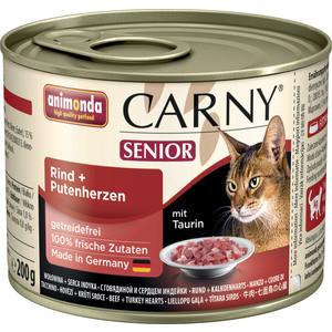 Консервы Animonda CARNY Senior с говядиной и сердцем индейки для пожилых кошек 200г (83711) фото