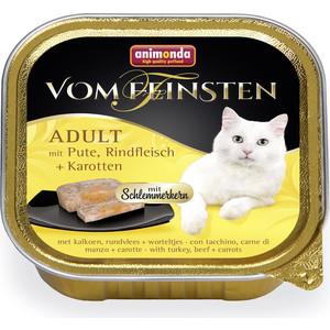 Консервы Animonda Vom Feinsten Adult меню для гурманов с индейкой, говядиной и морковью для привередливых кошек 100г (83263) фото