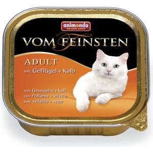Консервы Animonda Vom Feinsten Adult с домашней птицей и телятной для кошек 100г (83437) фото